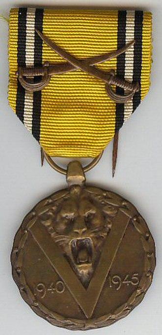 Commemorative Medal of the 1940–1945 War - Image: WW2 commemorative medal Belgium