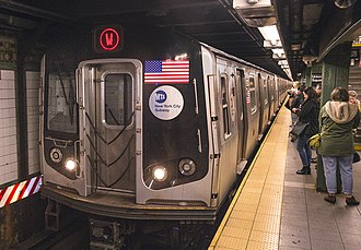 W (New York City Subway service) - A W  train