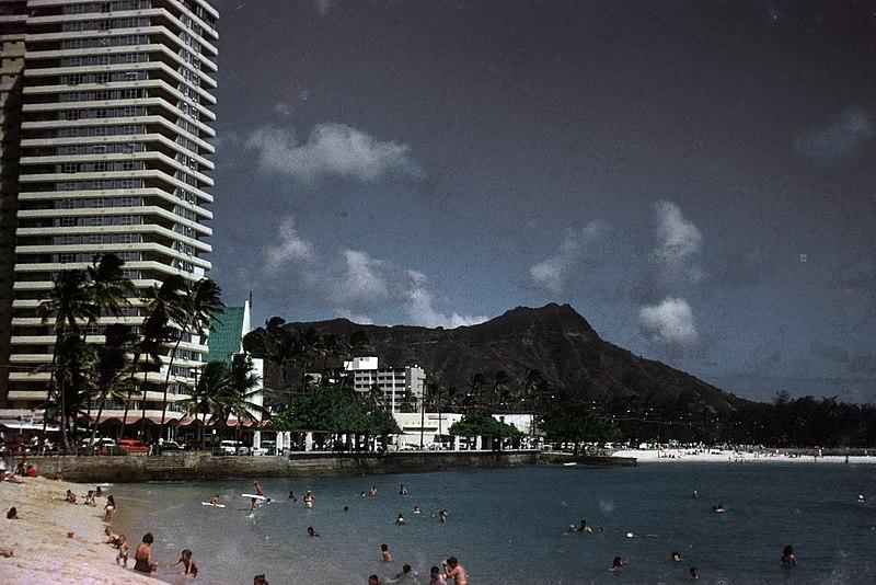 File:Waikiki Beach in June of 1963.jpg