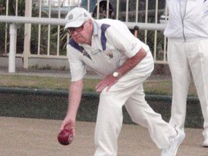 Henry Wallace Browning - Wal Browning competing in Lawn Bowls