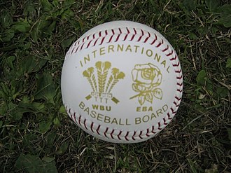 British baseball - Baseball used in an international match between Wales and England in 2006