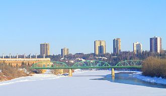 Walterdale Bridge - Image: Walterdale Bridge Edmonton Winter 2013