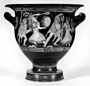 Walters-Dresden Painter - Bell-Krater with Satyrs and Maenads and Three Draped Men - Walters 4875 - Side A.jpg