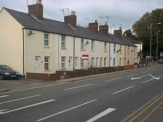 Walton, Aylesbury - A terrace of housing in Walton