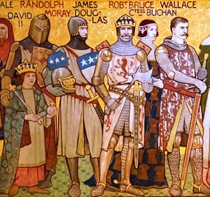 Wars of Scottish Independence - Notable figures from the first War of Independence as depicted by the Victorian artist William Hole