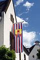 Warendorf - Fahne am Rathaus.jpg