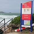Warning sign at Little Fistral Beach - geograph.org.uk - 433758.jpg