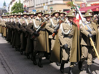 Podhale Rifles - Soldiers of the 21st Podhale Rifles Brigade in full gala dress-suit, Warsaw, 2006