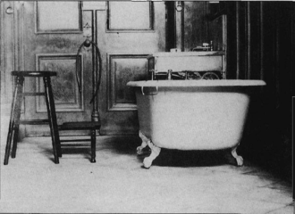 Washing and anointing - One of ten washing and anointing rooms of the Salt Lake Temple of The Church of Jesus Christ of Latter-day Saints circa 1911.