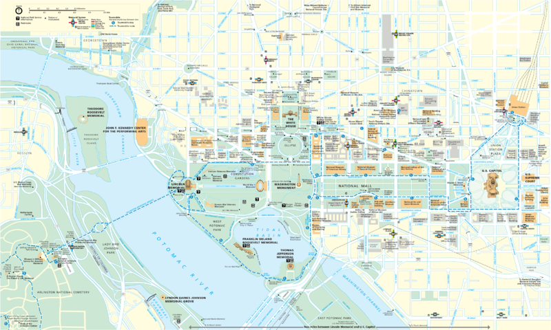 FileWashington DC map1png Wikimedia Commons – Tourist Map Of Washington Dc Printable