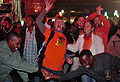 Watching Uruguay & Holland semi-final match at World Cup 2010-07-06 in Johannesburg 1.jpg
