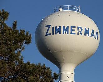 Zimmerman, Minnesota - Zimmerman water tower