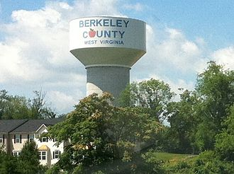 Berkeley County, West Virginia - Water tower in Berkeley County, WV