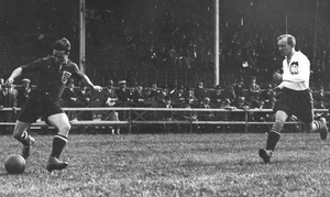 Wawrzyniec Cyl - Cyl (right) and Hungarian Hirzer at 1924 Olympics.