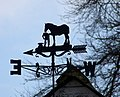 Weather vane, Grateley - geograph.org.uk - 1716079.jpg