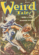 Weird Tales cover image for January 1954