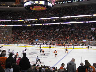 Wells Fargo Center (Philadelphia) - The Flyers playing the New Jersey Devils at the Wells Fargo Center.