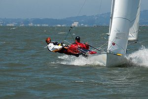Flying Junior - World Champions 2007, San Francisco Bay, Peter Wanders / Gisa Wortberg, GER 361
