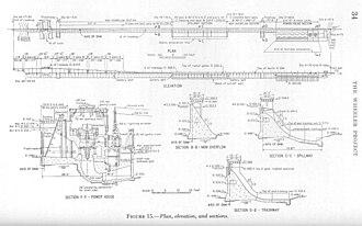 Wheeler Dam - Design plan for Wheeler Dam, circa 1933