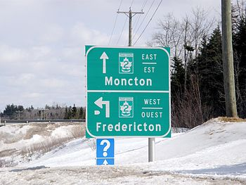 Entrance to New Brunswick Route 2 (Trans-Canad...