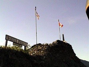 White Pass - White Pass summit seen from train, 2002