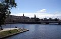 Widok na cypel Wyspy Słodowej, most Uniwersytecki i Uniwersytet fot BMaliszewska.jpg