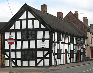 Widows' Almshouses, Nantwich - Gable end to Second Wood Street