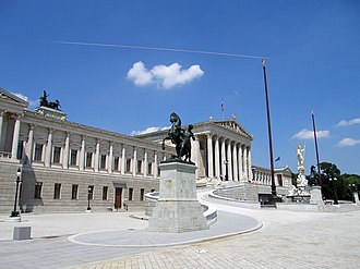 Austrian Parliament Building - Parliament Building on Ringstraße, Vienna