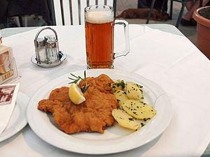 Wiener Schnitzel - A Wiener Schnitzel served at a restaurant in Carinthia, Austria