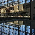 Wiki Loves Art --- Musée Royal de l'Armée et de l'Histoire Militaire, Hall de l'air, reflet de la verrière.jpg