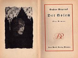 Wiki Loves Jules Verne Gustav Meyrink Der Golem 1915 (Gerd Kueveler)