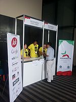 Wikimania 2015-Wednesday-Shirt-backpack desk (3).jpg
