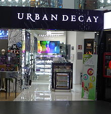 Urban Decay shop at Mexico City International Airport