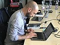 Wikimedia CH team at work MAMCO Geneva 004.jpg