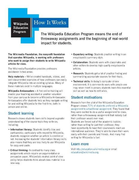 File:WikipediaEducationProgramOnePager.pdf