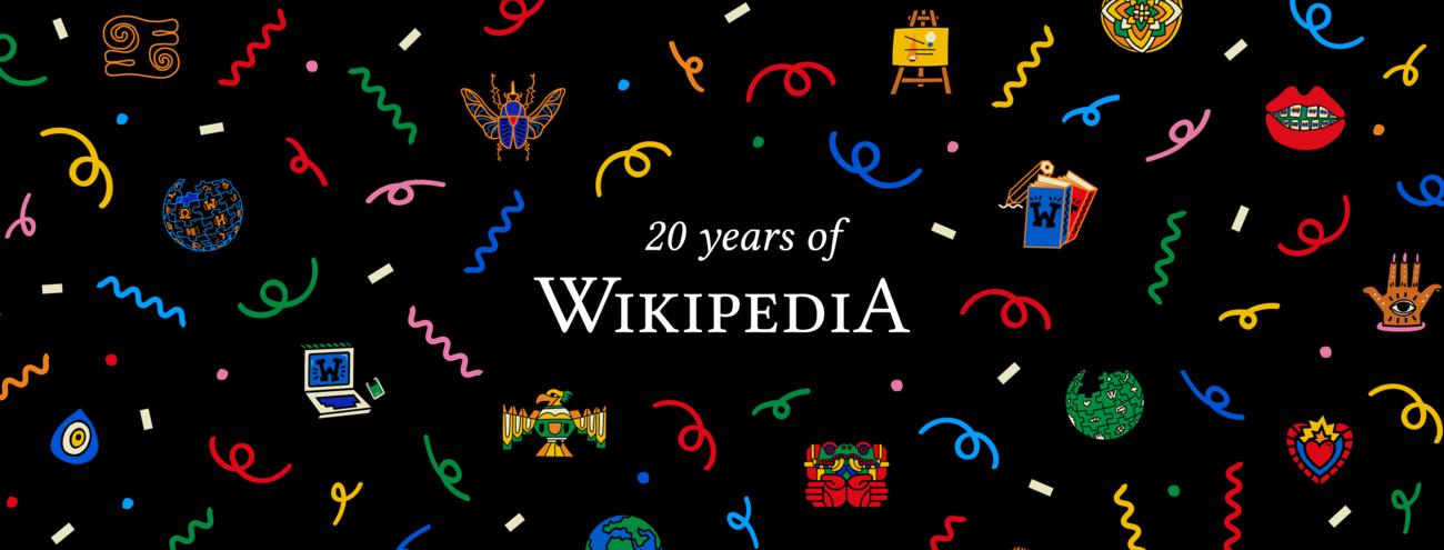 Wikipedia 20 cover confetti black.png
