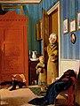 Wilhelm Ferdinand Bendz The Visit of the Beggar and her Child 1829.jpg