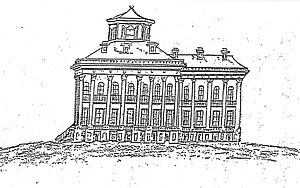 Windsor Ruins - Sketch of Windsor mansion (May 1, 1863)