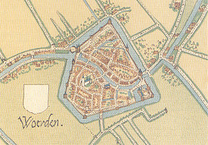 Woerden - Map of Woerden (c. 1557)