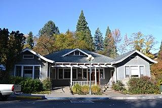 Womens Civic Improvement Clubhouse historic building in Ashland, Oregon, USA