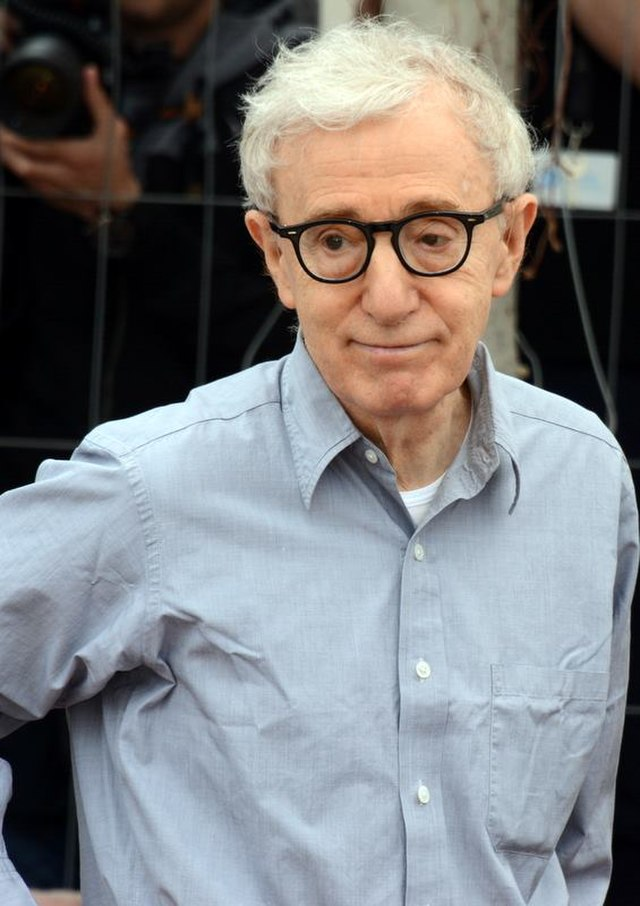 From commons.wikimedia.org: Woody Allen Cannes 2016 {MID-231628}