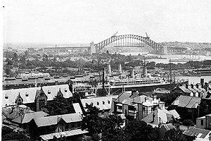 Woolloomooloo and the Sydney Harbour Bridge