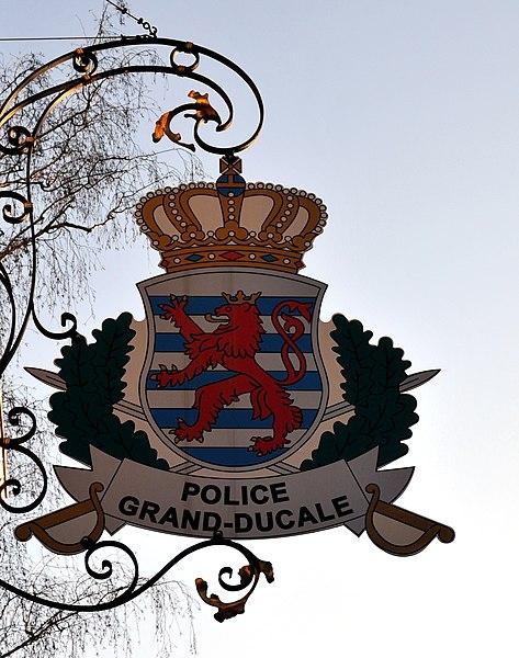 De Wope vun der Police iwwer dem Commissariat zu Iechternach.