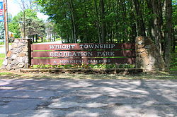 Sign at the Wright Township Municipal Park