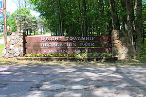Wright Township, Luzerne County, Pennsylvania - Sign at the Wright Township Municipal Park