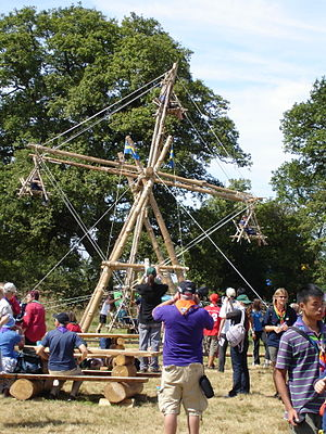Pioneering (Scouting) - A ferris wheel constructed by Swedish Scouts