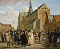 Wybrand Hendriks - Feest op het marktplein in Haarlem vanwege de opening van de tentoonstelling (…) op 4 juli 1825 - BR2877 - Rijksmuseum Twenthe.jpg