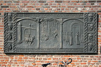 "Sigurd - Relief ""Siegfried in Xanten"" on the Nordwall in Xanten."