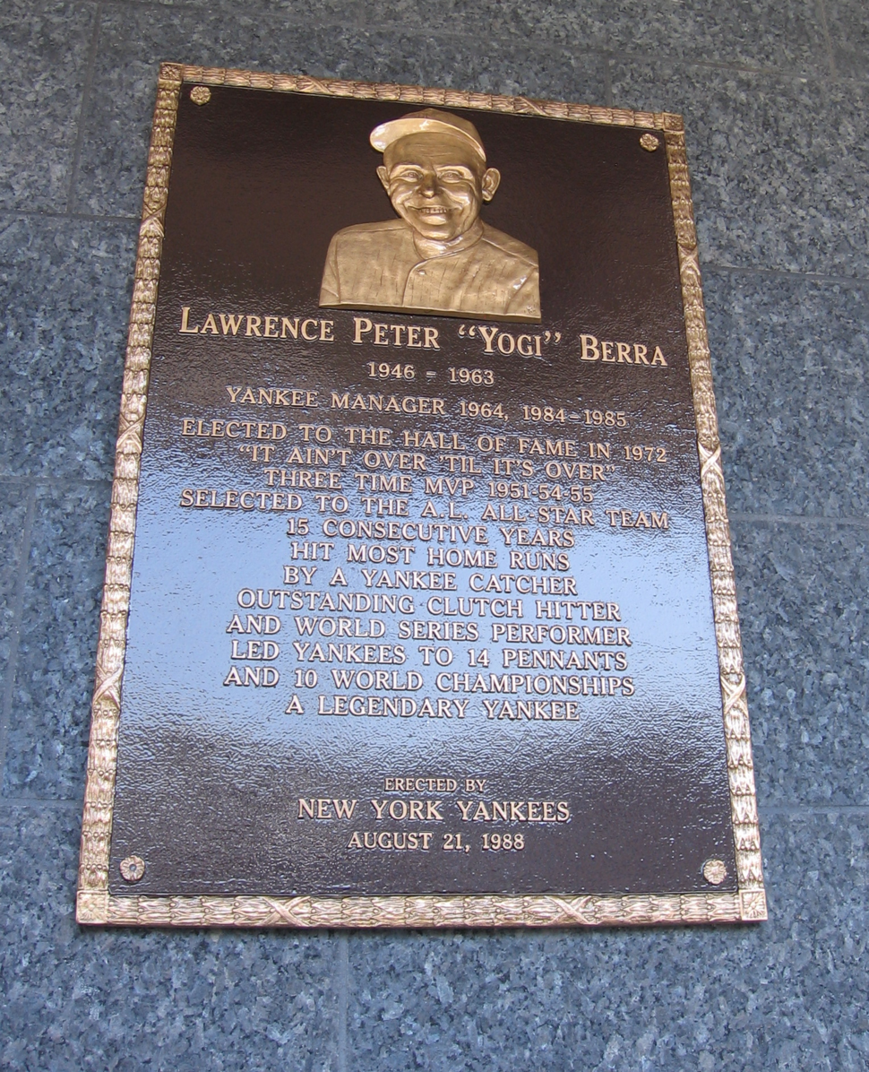 Yogi Berra Plaque