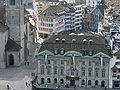 Zürich - Münsterhof - Zunfthaus zur Meisen - Sicht vom Grossmünster Karlsturm IMG 6391.JPG
